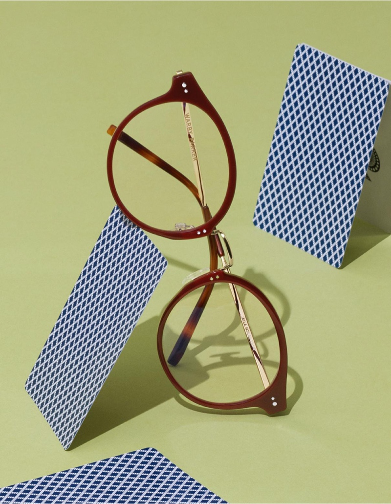 Warby Parker Jayla Russet Red with Riesling Eyewear