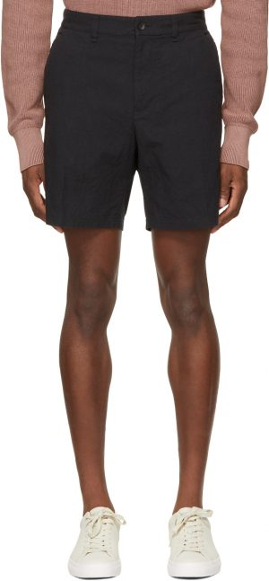 rag & bone Black Canvas Eaton Shorts
