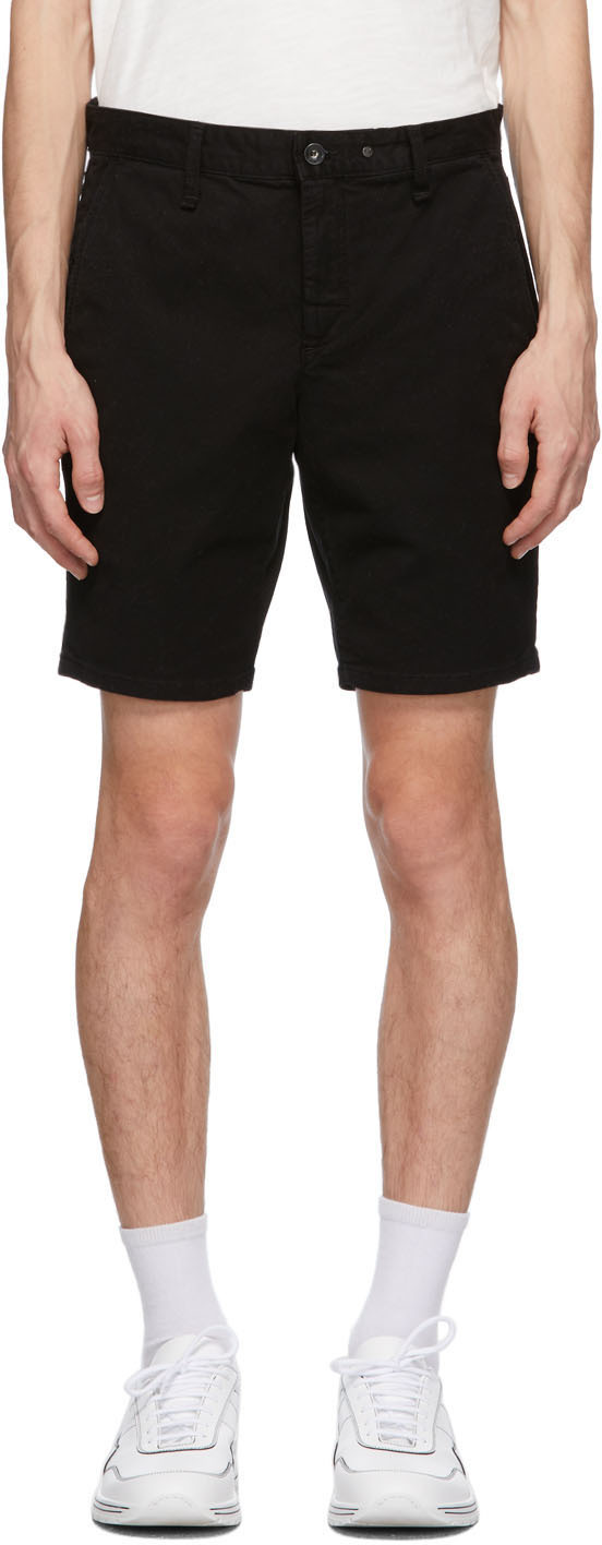 rag & bone Black Twill Classic Shorts