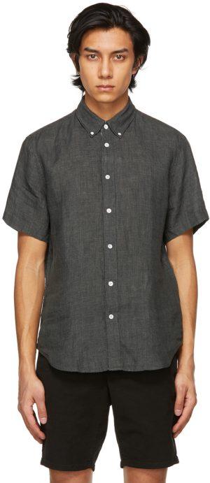 rag & bone Grey Linen Tomlin Shirt