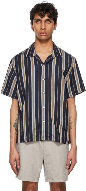 rag & bone Navy Striped Avery Shirt