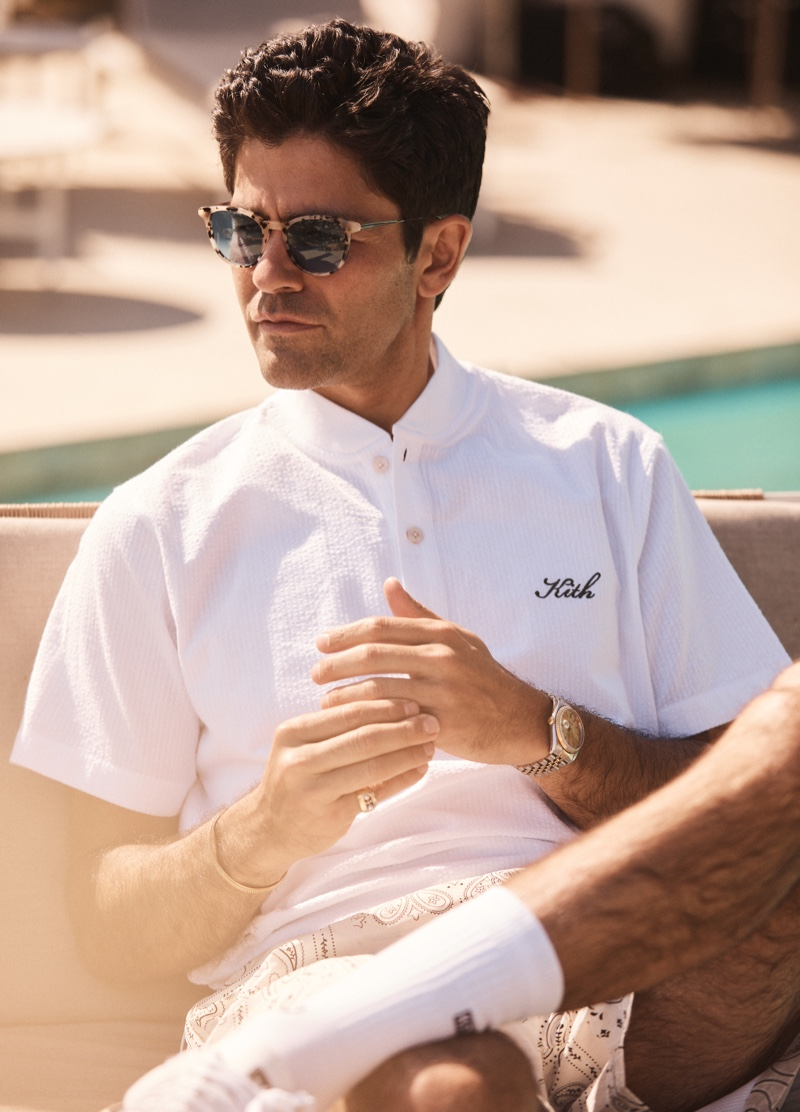 Kith enlists actor Adrian Grenier to front its summer 2021 campaign.