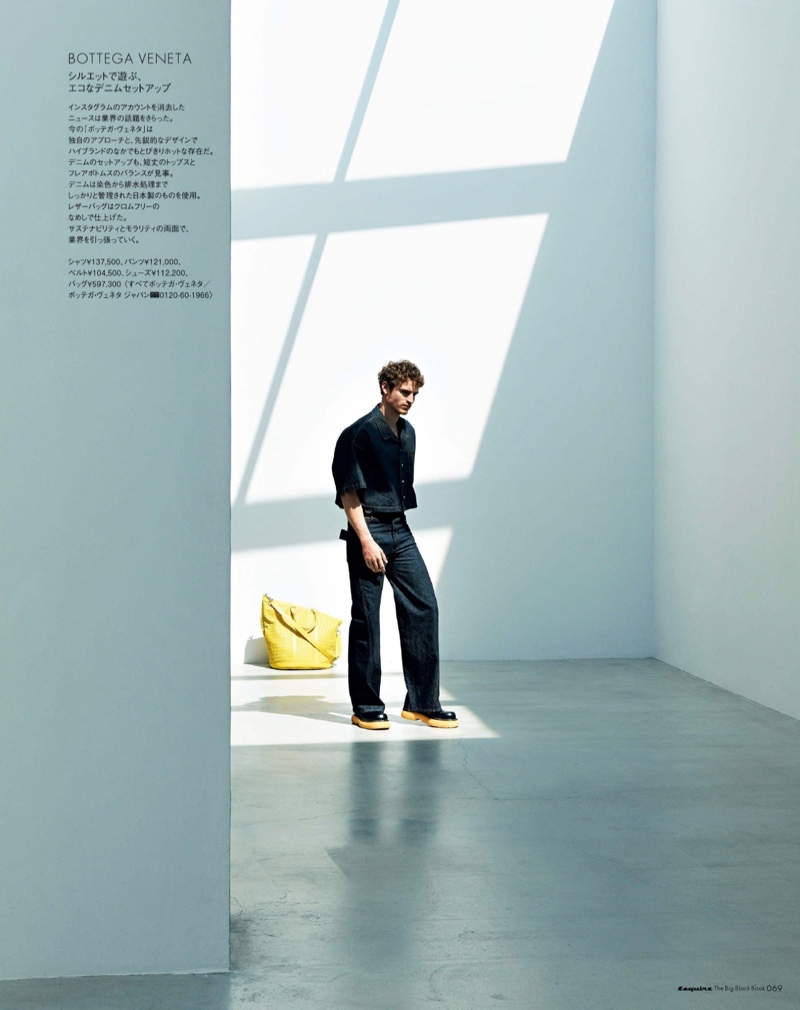 Anton Wormann Goes Green for Esquire Japan Big Black Book