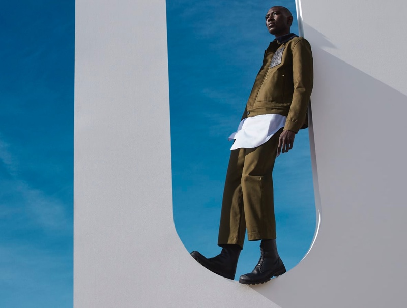 Matching has never looked so sharp with this coordinated ensemble from Loewe modeled by Armando Cabral.