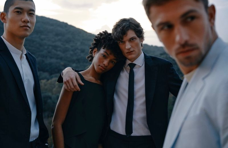 Yun Hoseok, Naomi Chin Wing, Valentin Caron, and James Yates front BOSS' spring-summer 2021 Special Occasions campaign.