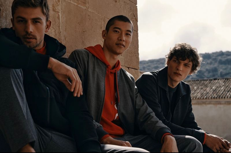 Offering a more casual and sporty look, James Yates, Yun Hoseok, and Valentin Caron star in BOSS' spring-summer 2021 Special Occasions campaign.