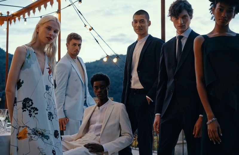 Lina Berg, James Yates, Babacar N'doye, Yun Hoseok, Valentin Caron, and Naomi Chin Wing come together for BOSS' spring-summer 2021 Special Occasions campaign.
