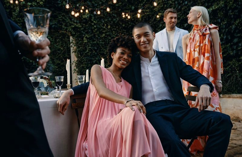 All smiles, Naomi Chin Wing, Yun Hoseok, James Yates, and Lina Berg appear in BOSS' spring-summer 2021 Special Occasions campaign.