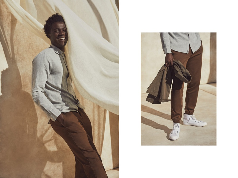 Dustin Shirley & Remi Chester Go Casual in Essential Banana Republic Style
