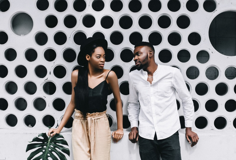 Black Couple Summer Style Casual