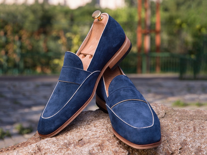 Blue Suede Shoes Loafers