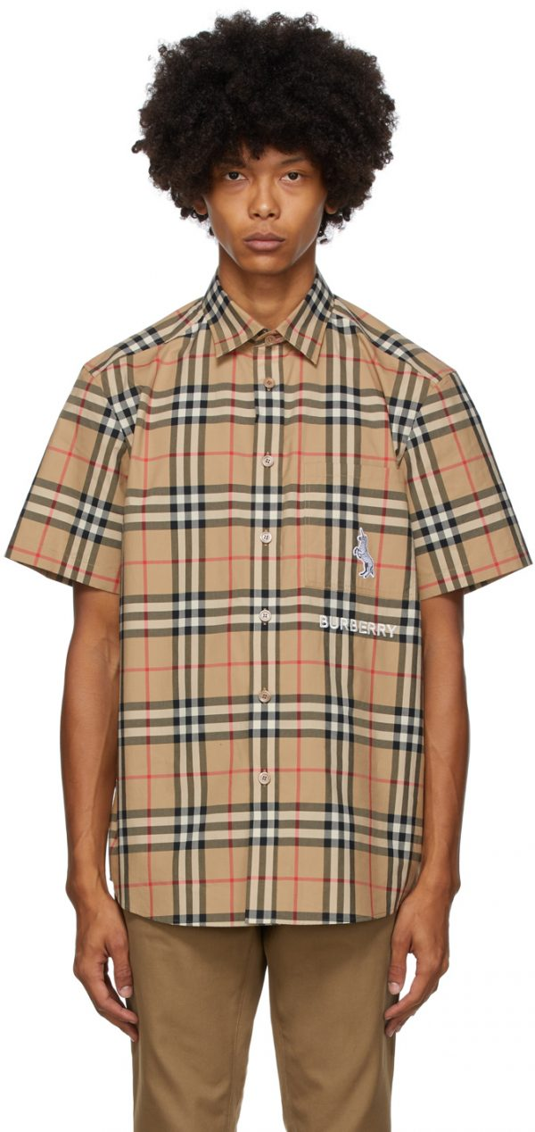 Burberry Beige Coleford Short Sleeve Shirt