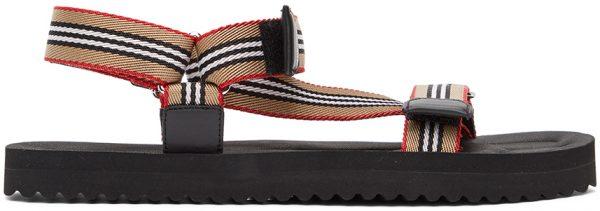 Burberry Beige Icon Stripe Sandals