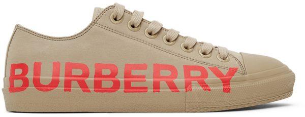 Burberry Beige Larkhall M Logo Sneakers