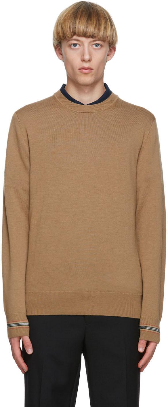 Burberry Beige Merino Icon Stripe Paradise Sweater