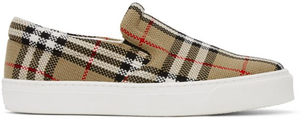 Burberry Beige Thompson Slip-On Sneakers