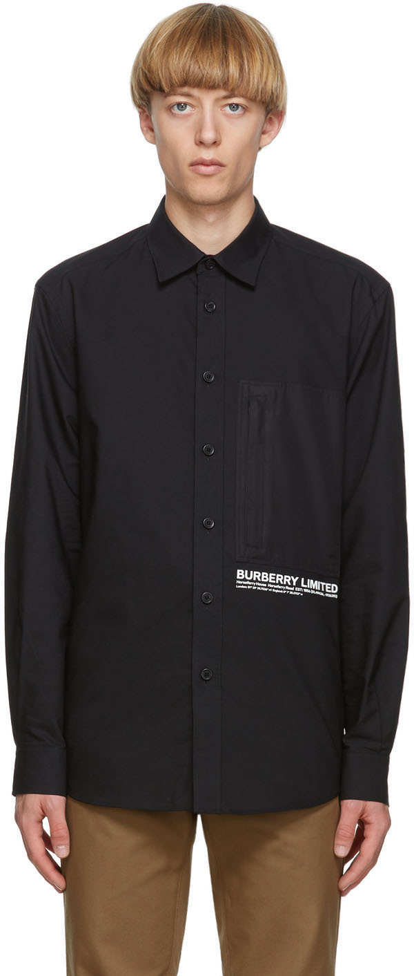 Burberry Black Cadborough Shirt