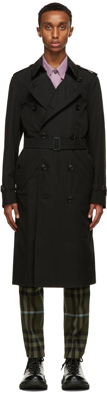 Burberry Black Chelsea Heritage Long Trench Coat