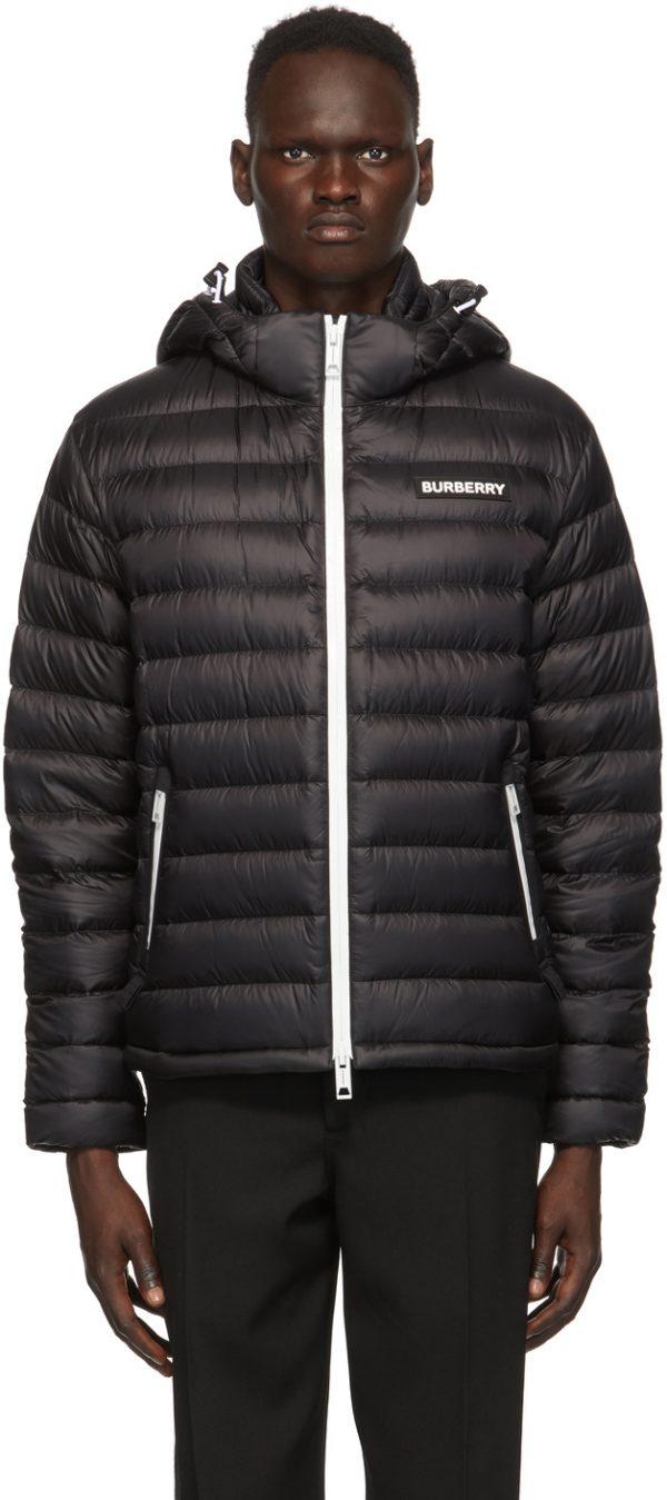 Burberry Black Down Barnet Jacket