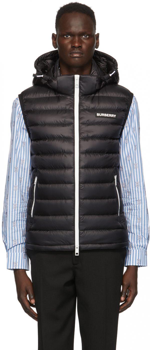 Burberry Black Down Bretton Vest