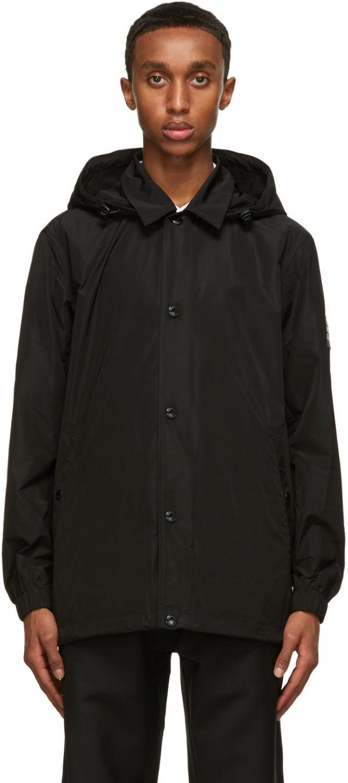 Burberry Black Ealing Hooded Jacket