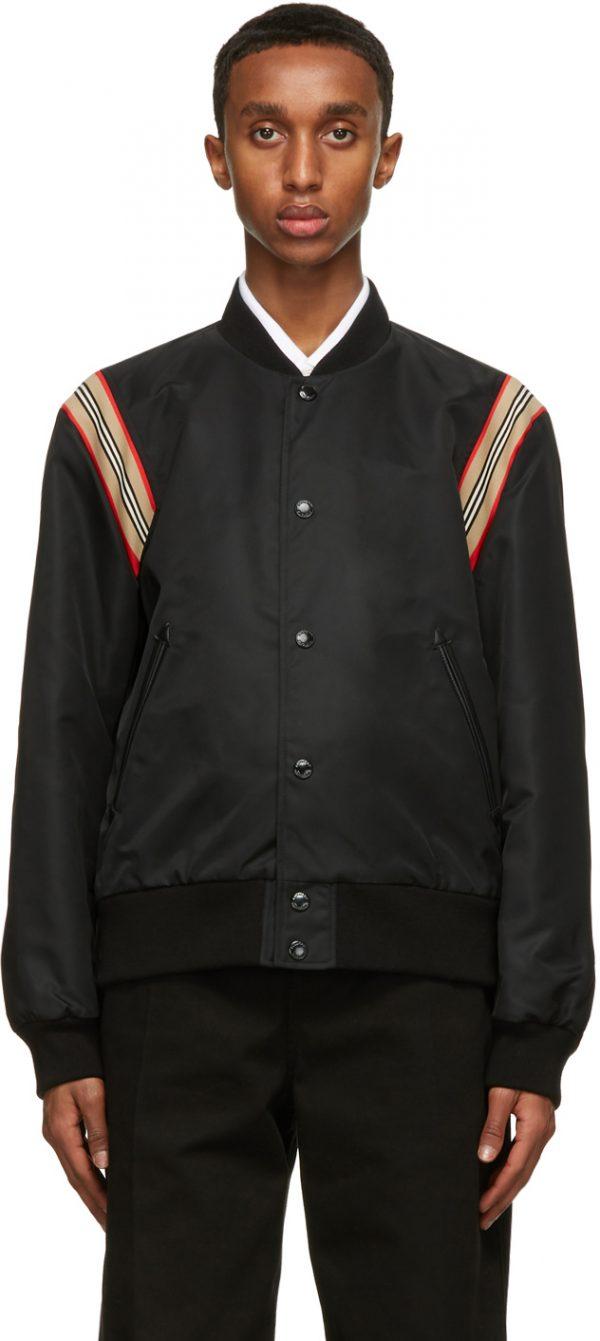 Burberry Black Harwell Tour Bomber Jacket
