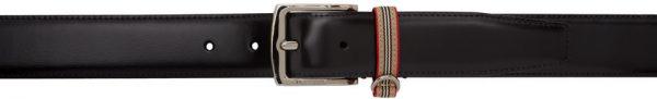 Burberry Black Icon Stripe Belt