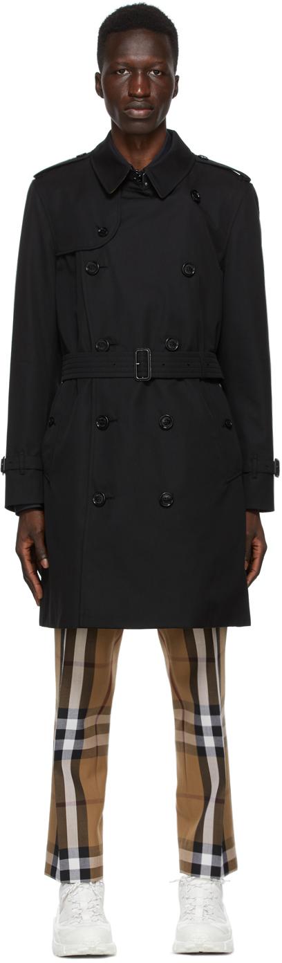 Burberry Black Kensington Trench Coat
