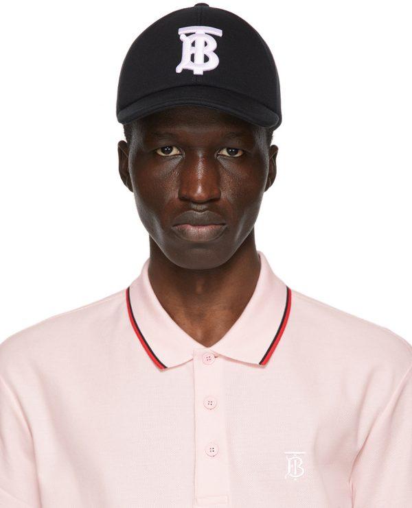 Burberry Black Monogram TB Baseball Cap