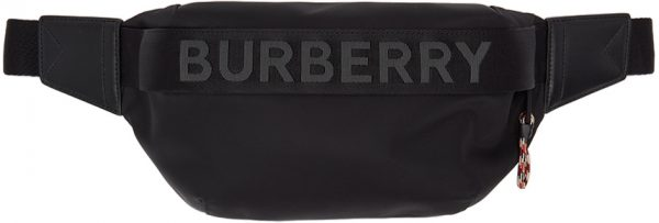 Burberry Black Sonny Logo Bumbag Pouch