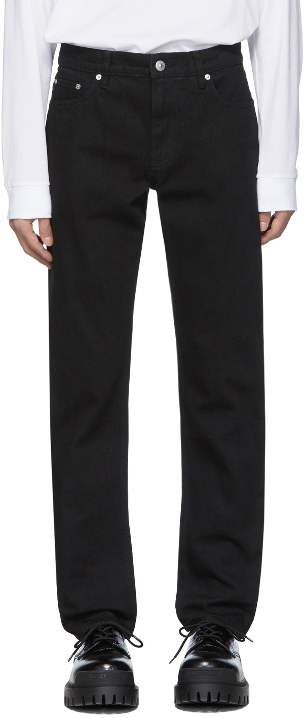 Burberry Black Straight-Leg Jeans