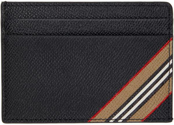 Burberry Black Stripe Kier Card Holder