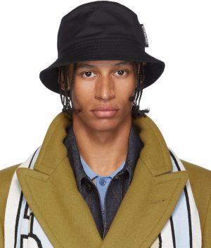Burberry Black Twill Bucket Hat