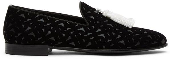 Burberry Black Velvet Flavio Tassel Loafers