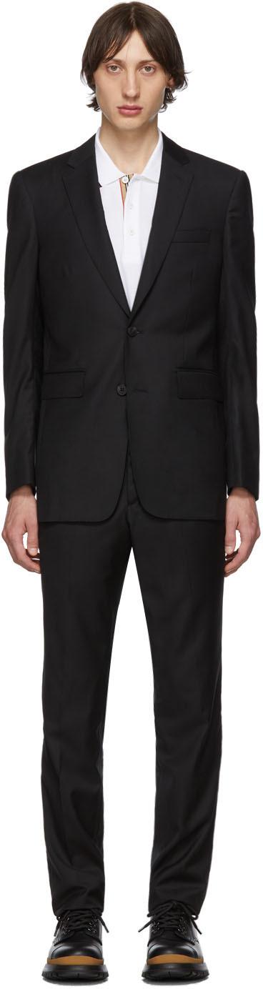 Burberry Black Wool Classic Suit