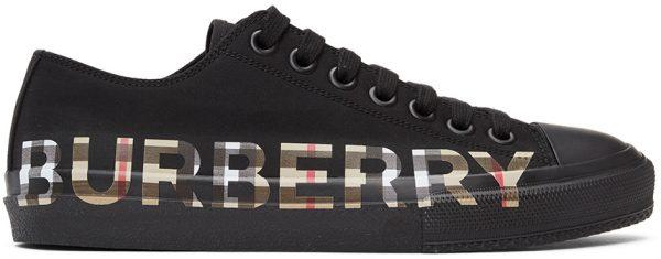 Burberry Black & Beige Larkhall M Logo Sneakers