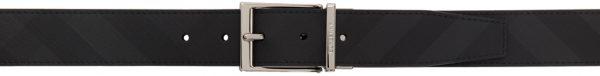 Burberry Black & Grey London Check Belt