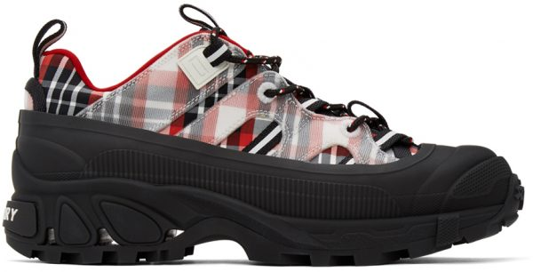 Burberry Black & Red Arthur Story Sneakers