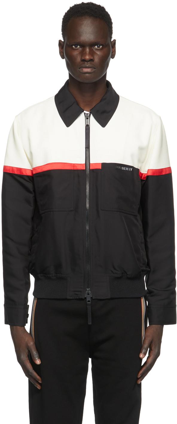 Burberry Black & White Harrington Jacket