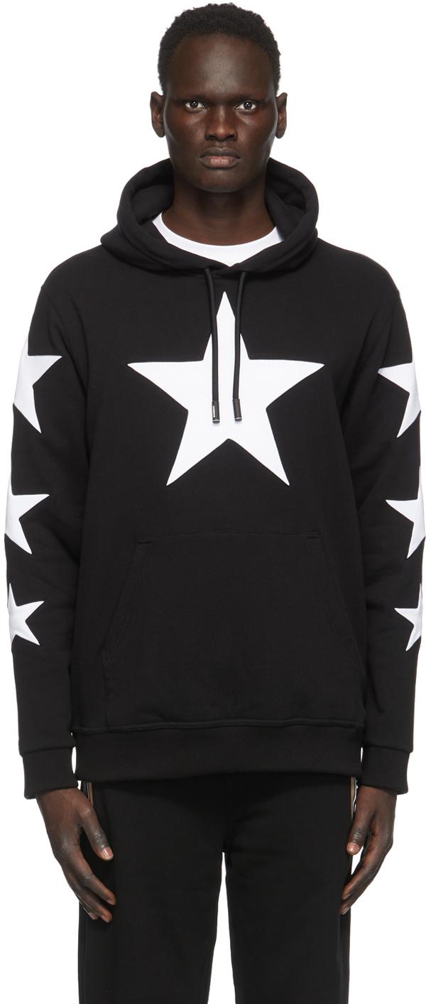 Burberry Black & White Star Hoodie