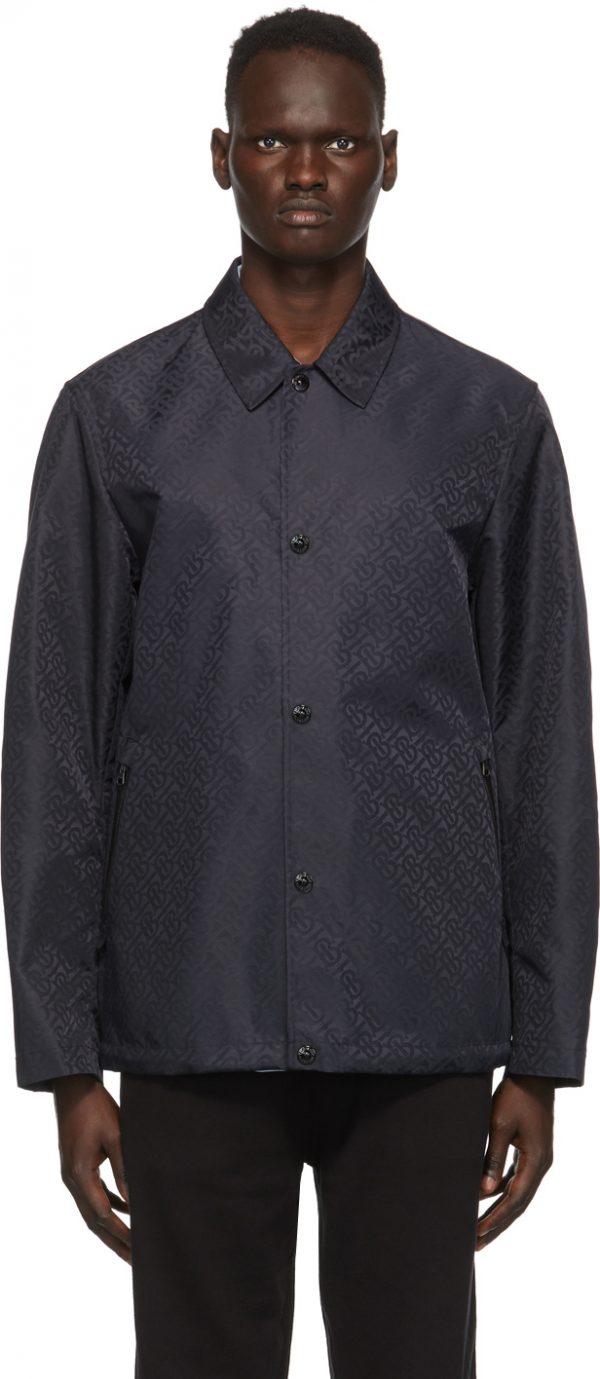 Burberry Blue ECONYL® Monogram Jacket