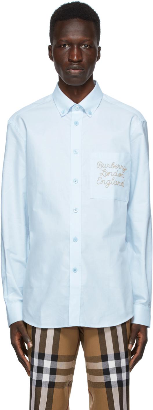 Burberry Blue Oxford Cadford Classic Shirt