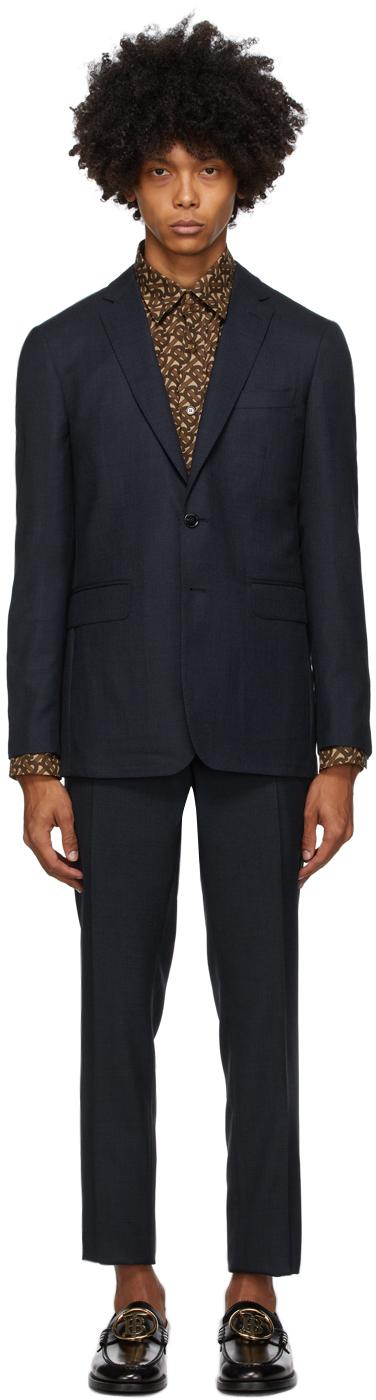 Burberry Blue Travel Slim Suit