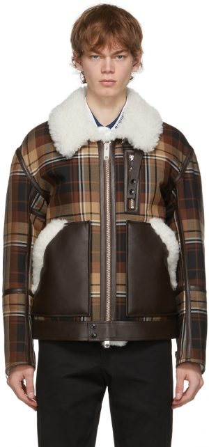 Burberry Brown Fleece Check Jacket