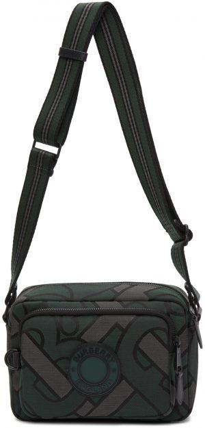 Burberry Green Recycled Polyester Monogram Crossbody Bag