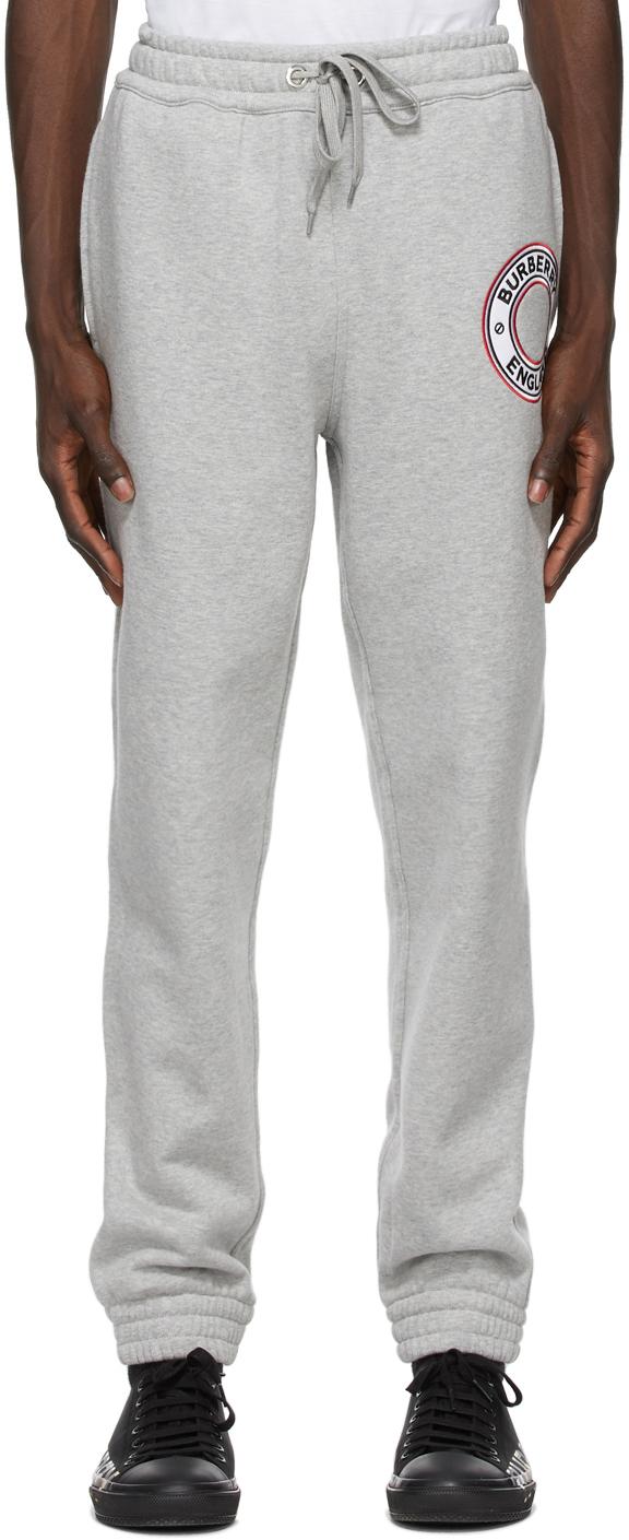Burberry Grey Addison Logo Graphic Lounge Pants