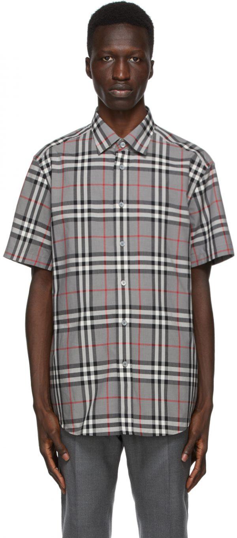 Burberry Grey Check Caxton Shirt