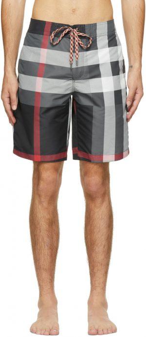 Burberry Grey Check Swim Shorts