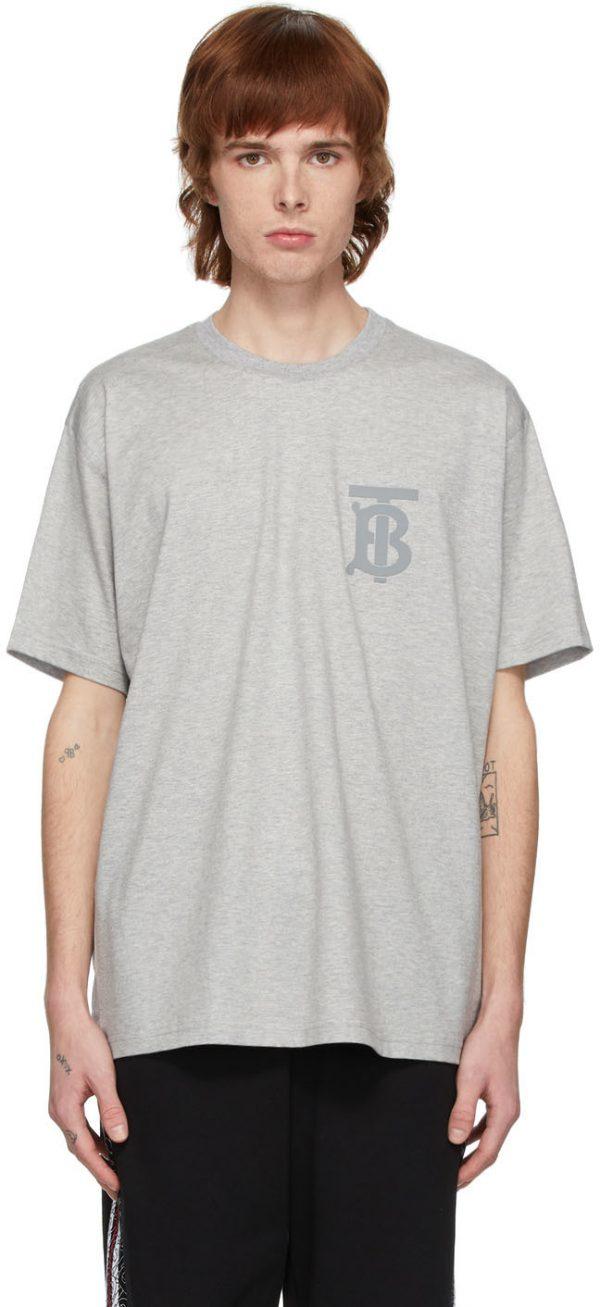 Burberry Grey Emerson Monogram T-Shirt