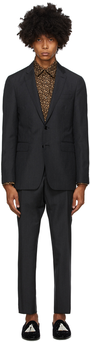 Burberry Grey Slim Suit